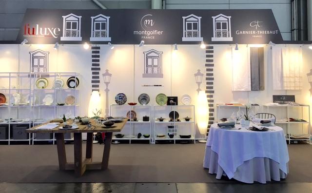 ガルニエ・ティエボー(Garnier Thiebaut)FHA(シンガポール展示会)201604テーブルセッティング-2