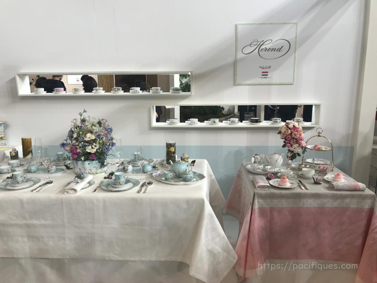 ガルニエ・ティエボー(Garnier Thiebaut)テーブルウェア・フェスティバル2019ヘレンドブース
